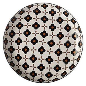Christopher Vine Marigold Tapas Plate - Black Flower 23 cm