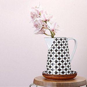 Christopher Vine Marigold Jug - Black Flower 3.5L
