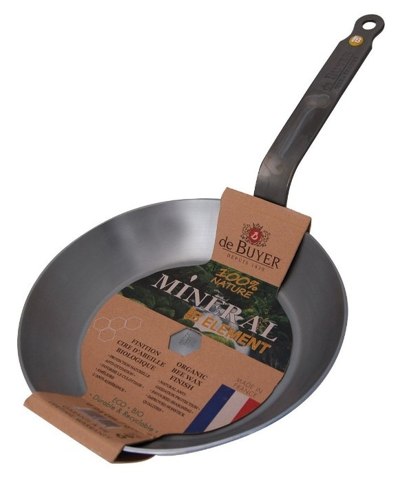 De Buyer Mineral B Round Carbon Steel Fry Pan Small ...