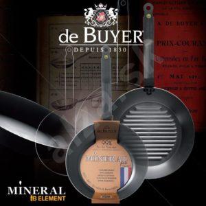 De Buyer Mineral B Element round fry pan