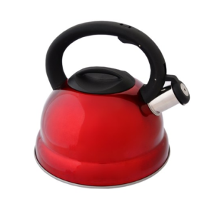 Red Stainless Steel Stove Top Kettle