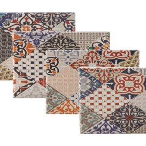 Maxwell & Williams Marrakesh Ceramic Square Tile Coaster 9cm Set of 4 Gift Boxed