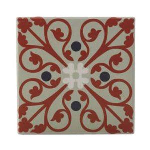 Maxwell & Williams Medina Ceramic Square Tile Coaster Sefrou 9cm
