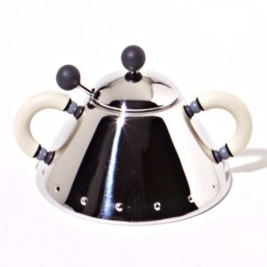 Alessi Graves Sugar Bowl White Handle