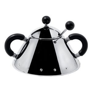 Alessi Michael Graves Tea Sugar Bowl And Spoon Black