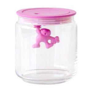 Alessi Gianni Glass Jar Pink Lid