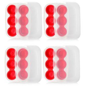 Progressive Prep Works Set of Four Cookie Dough Keeper Trays w/ Lids
