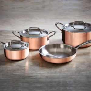 Eetrite Copper Casserole With Lid 24cm