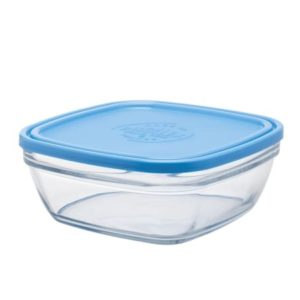 Duralex Freshbox Stackable Square Bowl with Lid 2liter