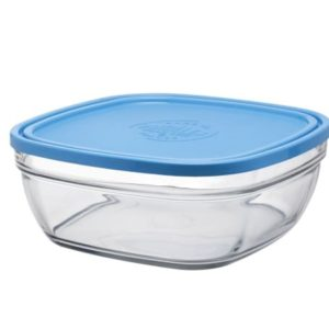 Duralex Freshbox Stackable Square Bowl with Lid 3.1liter