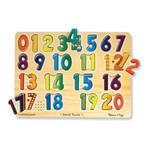 Melissa & Doug Numbers Sound Puzzle 21pieces