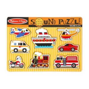 Melissa & Doug Vehicles Sound Puzzle 8pieces