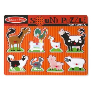 Melissa & Doug Farm Animals Sound Puzzle 8pieces