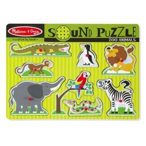 Melissa & Doug Zoo Animals Sound Puzzle 8pieces