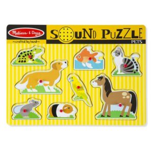 Melissa & Doug Pets Sound Puzzle 8pieces