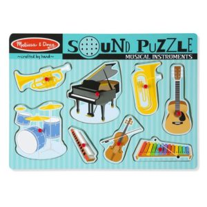 Melissa & Doug Musical Instruments Sound Puzzle 8piece