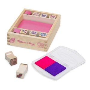 Melissa & Doug Wooden Stamp Set Butterflies and Hearts