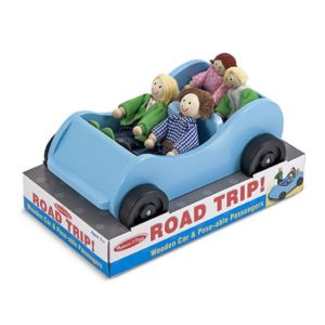 Melissa & Doug Road Trip Wooden Car Pose able Passengers