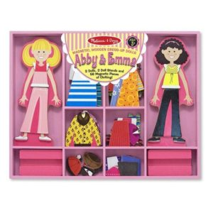 Melissa & Doug Abby & Emma Magnetic Dress-Up Set